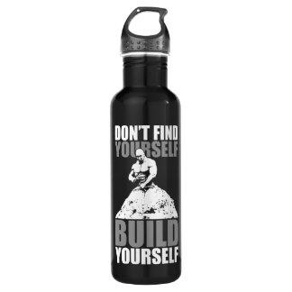 Build Yourself - Bodybuilding Workout Motivational 710 Ml Water Bottle