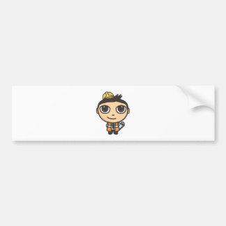 Builder Cartoon Character Stickers