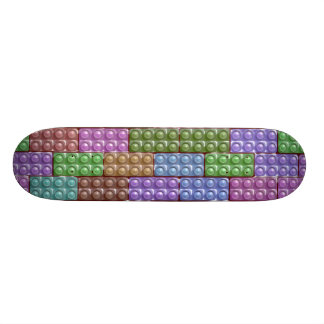 Builder s Bricks - Pastel Custom Skateboard