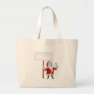 Builder Santa Sign Large Tote Bag