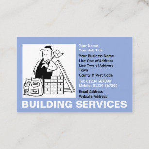 Funny engineer business cards business card printing zazzle uk builders building services business card reheart Choice Image