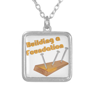 Building A Foundation Square Pendant Necklace