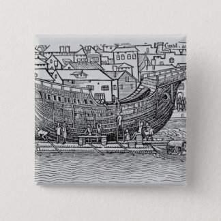 Building a Ship 15 Cm Square Badge
