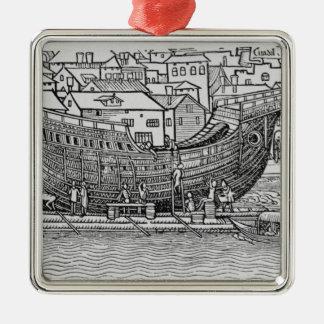 Building a Ship Christmas Ornament