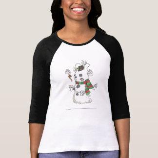 Building a snowbun with the Flutterby bunnies T-Shirt