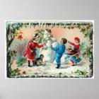 Building a Snowman  c.1890 Poster