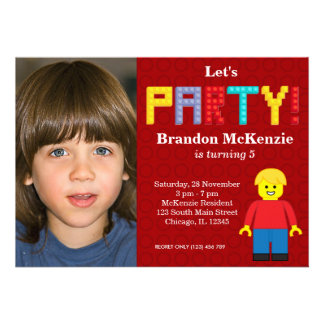 Building Blocks birthday Personalized Announcements