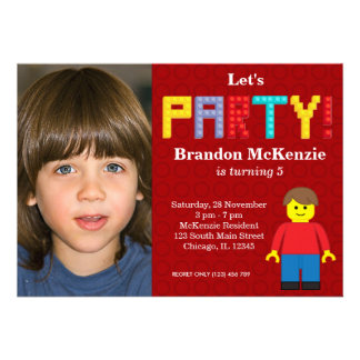 Building Blocks birthday Personalized Invitations