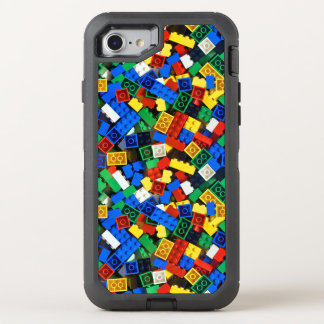 Building Blocks Construction Bricks OtterBox Defender iPhone 8/7 Case