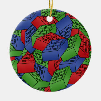 Building Blocks Illustration - SINGLE-SIDED Christmas Ornament