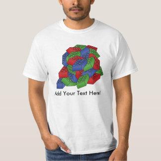 Building Blocks Pile - Vector Illustration T-Shirt