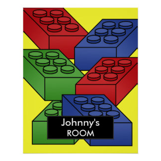 Building blocks Poster For a Kid s Room