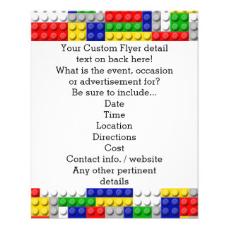 Building Blocks Primary Color Boy's Birthday/Party 11.5 Cm X 14 Cm Flyer
