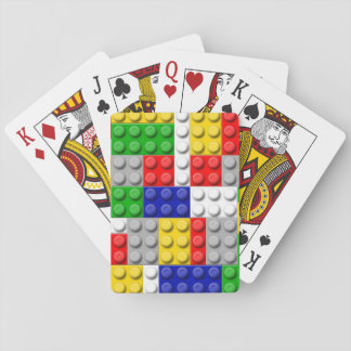 Building Blocks Primary Color Boy's Birthday/Party Playing Cards