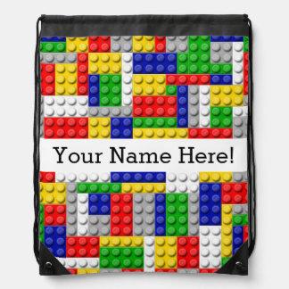 Building Blocks Primary Color Boy's Birthday/Party Rucksacks