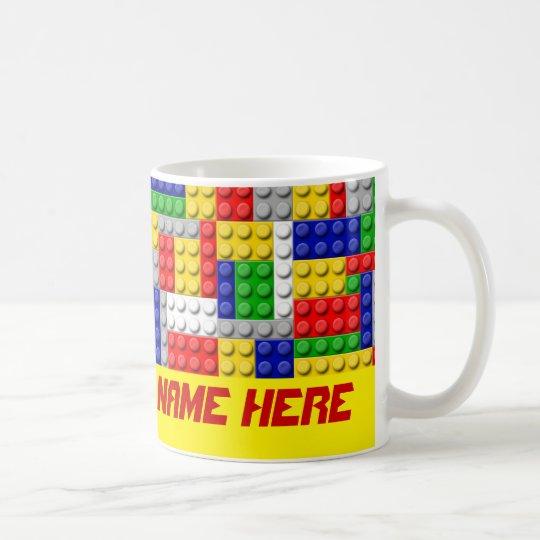 Building Blocks Primary Colour Boy's Personalised Coffee Mug