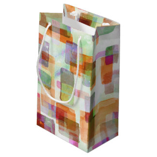 Building Blocks Pumpkin Olive Small Gift Bag