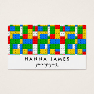 Building Bricks Pattern Personalized Business Card