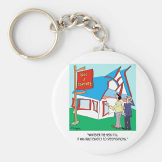 Building Cartoon 9233 Basic Round Button Key Ring