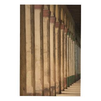 Building columns, Havana, Cuba Wood Print