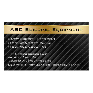 Building Equipment Business Cards