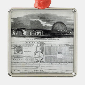 Building for the Great Industrial Exhibition Christmas Ornament