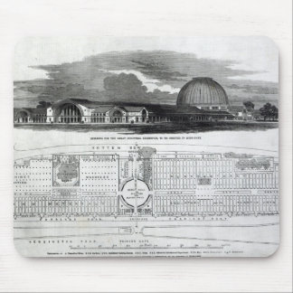 Building for the Great Industrial Exhibition Mouse Mat