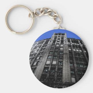Building in Detroit Key Chain