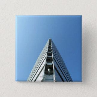 Building in Japan 15 Cm Square Badge