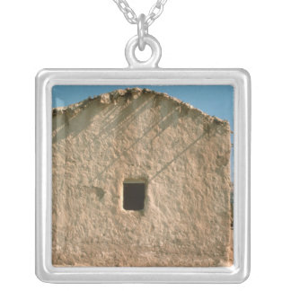 Building in Old Jericho Silver Plated Necklace