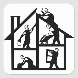 Building Logo Square Sticker