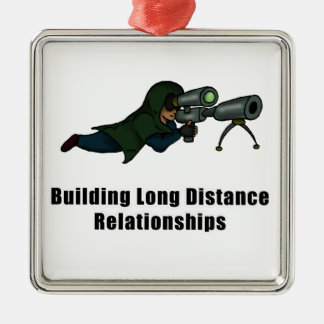 building long distance relationships Silver-Colored square decoration