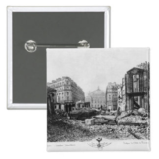 Building of Avenue de l'Opera 2 15 Cm Square Badge