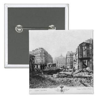 Building of Avenue de l'Opera 2 15 Cm Square Badge
