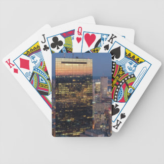 Building of Boston with light trails on road Bicycle Playing Cards