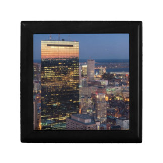 Building of Boston with light trails on road Gift Box