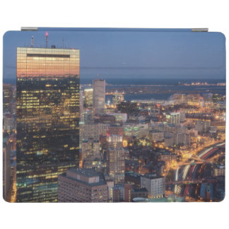 Building of Boston with light trails on road iPad Cover