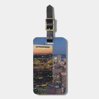 Building of Boston with light trails on road Luggage Tag