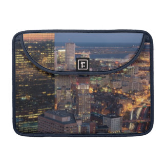 Building of Boston with light trails on road Sleeve For MacBook Pro