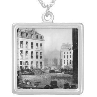 Building of the Avenue de l'Opera Silver Plated Necklace