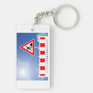 Building site, building site closing and building key ring