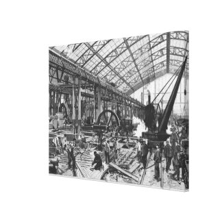 Building site of the Galerie des Machines Canvas Print