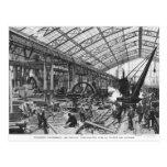 Building site of the Galerie des Machines Postcard