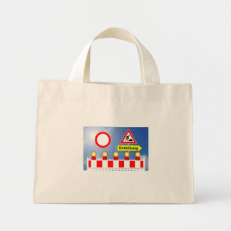 Building site passage forbade and bypass mini tote bag
