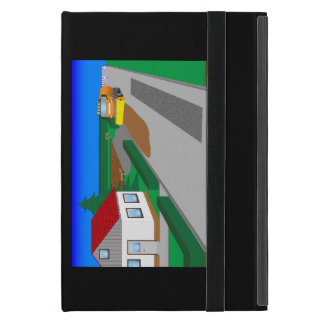 Building site with sweeping machine iPad mini case