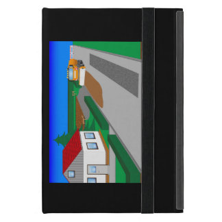 Building site with sweeping machine iPad mini cover