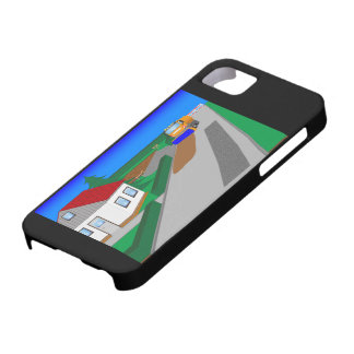 Building site with sweeping machine iPhone 5 cases
