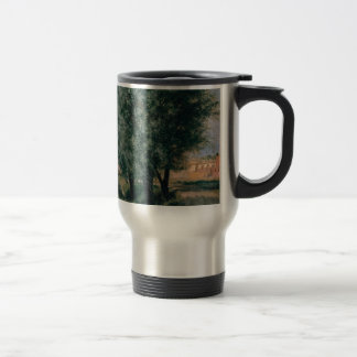 Building Site with Willows - Adolph Menzel 1846 Stainless Steel Travel Mug