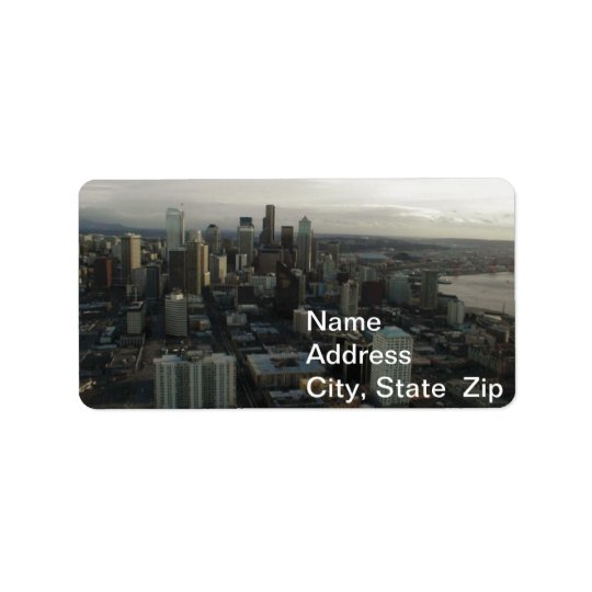 Building space needle Seattle Address Label