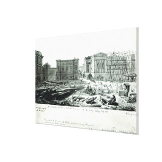 Building the New Gallery of the British Museum Canvas Print